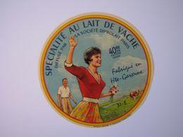 Etiquette De Fromage SPECIALITE AU LAIT DE VACHE Fabriqué En Hte-GARONNE 40% 51-E - Fromage