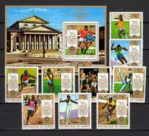 Guinea 1972 Olympic Games Munich, Football Soccer, Cycling Etc. Set Of 9 + S/s MNH - Ete 1972: Munich