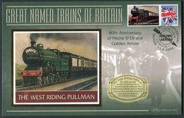 """2006 GB """"The West Riding Pullman"""" Railway, Steam Train Cover. - Gran Bretagna"""