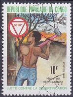 Timbre Oblitéré N° 837(Yvert) Congo 1988 - Halte Au Déboisement - Used