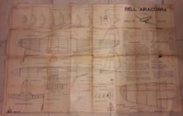 """PLAN MONTAGE BELL """"AIRACOBRA"""" AVION DE CHASSE. C.B BATIR 75 PARIS. - Autres"""