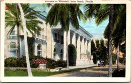 Florida Palm Beach Entrance To Whitehall - Palm Beach