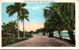 Florida West Palm Beach Lake Front Drive 1928 - West Palm Beach