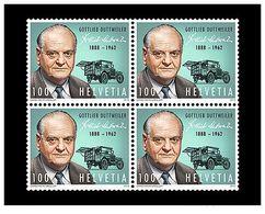 Switzerland 2013 -  125th Birthday Of Gottlieb Duttweiler Block Of 4 Mnh - Unused Stamps