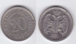 Serbia - 20 Para 1917 VF+ Lemberg-Zp - Serbia