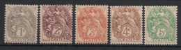 Crète - 1902-03 - N°Yv. 1 à 5 - Type Blanc - Les 5 Valeurs De 1c à 5c - Neuf Luxe ** / MNH / Postfrisch - Neufs
