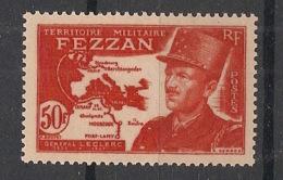 Fezzan - 1949 - N°Yv. 53 - Général Leclerc 50f Rouge - Neuf Luxe ** / MNH / Postfrisch - Fezzan (1943-1951)