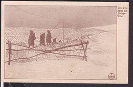"""Feldpostkarte Landwehr Infanterie Regiment 76 ?  1915  """" Am Eingang Der Heintze Allee """" - War 1914-18"""