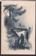 """Feldpostkarte Ostfront """" Nachtwacht Im Schützengraben """" - War 1914-18"""