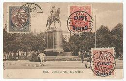 Lettland Latvia Postcard Sent To Czechoslovakia 1922 - Lettonia