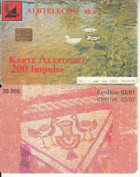 ALBANIA - Birds, Albtelecom Telecard 200 Units, Tirage 30000, 02/01, Used - Albania