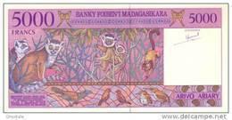 MADAGASCAR P. 78b 5000 F 1995 UNC - Madagascar