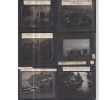 LOT De 12 Plaques De Verre Voyages Circa 1900 (ITALIE 8) - Belles Animations - (Italia) - Diapositiva Su Vetro