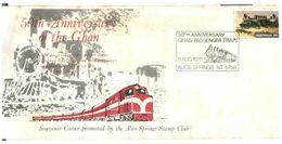 (D 27) Australia - Cover For GHAN Passengr Train 50th Anniversary (Alice Springs 1979) - Sonstige