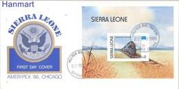 Sierra Leone 1986 Mi Bl 46 FDC ( FDC ZS5 SRRbl46 ) - Treni