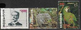 Ecuador 1993-4   Sc#1317, 1324-5  Used  2016 Scott Value $4.85 - Ecuador