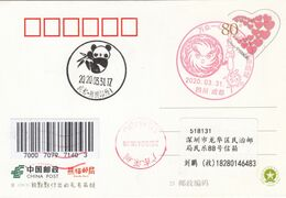 China 2020 Sichuan Chengdu  Fight Epidemic(Covid-19) Entired Postal Card B - 1949 - ... People's Republic