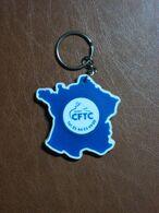 Jeton De Caddie En Plastique - Syndicat CFTC - Avec Support Carte De France - Trolley Token/Shopping Trolley Chip