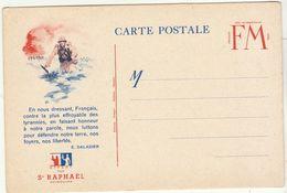 CPFM Pub St Raphaël Quinquina Fantassin - Marcophilie (Lettres)