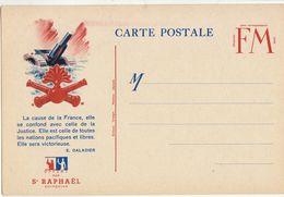 CPFM Pub St Raphaël Quinquina Artillerie Lourde - Marcophilie (Lettres)