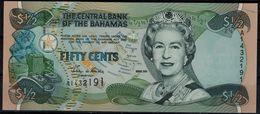 BAHAMAS 2001 BANKNOTES 1/2 DOLLAR UNC !! - Bahamas