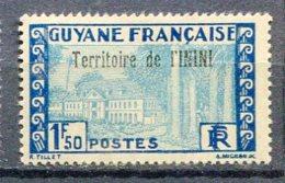 ININI Yv. N° 21  *  1f50  Cote  1,3  Euro  BE  2 Scans - Unused Stamps