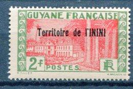 ININI Yv. N° 24  *  2f  Cote  1,4  Euro  BE  2 Scans - Unused Stamps