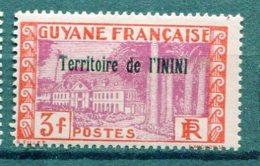 ININI Yv. N° 25  *  3f  Cote  1,4  Euro  BE  2 Scans - Unused Stamps