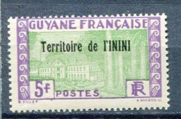 ININI Yv. N° 26  *  5f  Cote  1,4  Euro  BE  2 Scans - Unused Stamps