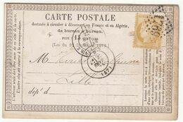"""CP Précurseur Repiquée """"Dépèche Des Etats Unis"""" 15c Cérès O. GC + T17 Le Havre 1875 - Marcophilie (Lettres)"""