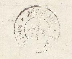 """Cad """"Journaux  Bordeaux PP2"""" Non Signalé En Arrivée LAC Marseille 1874 (2 Scans) - 1849-1876: Période Classique"""