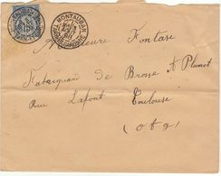 Tarn Et Garonne ESC 15c Sage O. Daguin Montauban 1898 - 1877-1920: Semi-moderne Periode