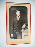 PHOTO CDV 19 EME JEUNE GARCON ELEGANT  MODE   Cabinet MARTIN  A LIMOGES - Anciennes (Av. 1900)