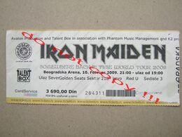 IRON MAIDEN  / Somewhere Back In Time World Tour 2009 - Used Ticket Belgrade ( 2009 ) - Biglietti Per Concerti