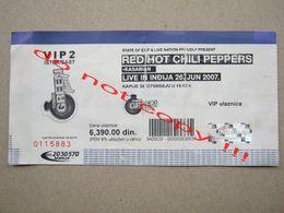 RED HOT CHILI PEPPERS / Live In Indjija, Serbia - VIP Ticket ! Used ... ( 2007 ) - Biglietti Per Concerti