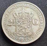 NETHERLAND 2 1/2 GULDEN 1933 SILVER - 2 1/2 Gulden
