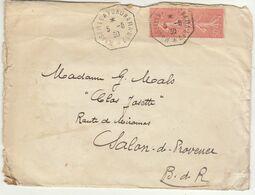 """ESC 50c X 2 O. Cad Marseille à Yokohama N°7 1930 Par Le """"Général Metzinger"""" Des Messageries Maritimes (2 Scans) - 1877-1920: Periodo Semi Moderno"""