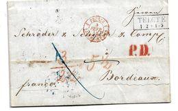 Pre316/ PREUSSEN - Telgte 1858, Kastenstempel, Auslandsbrief - Pruisen