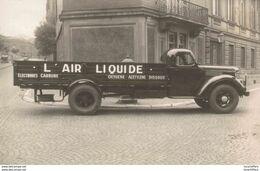 Photo - Camion En Gros Plan - L'Air Liquide - Liège - Rue Courtois/Rue Fush - 2 Scans - Cartes Postales