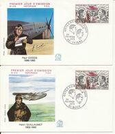 AVIATION LOT 4 ENVELOPPES 1er JOUR GUILLAUMET CODOS 1973 - Altri