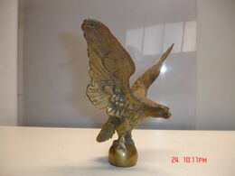 Aguila Maziza De Bronce, 18x20 Cm,  Peso 1.300 Gr--(ref-2) - Bronzes