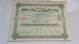 MINES DE ZINC DE SAINT HIPPOLYTE DU FORT (fondateur)  1911 - Non Classés