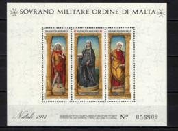 SMOM - 1971 - NATALE: TRITTICO DI LIBERALE DA VERONA - FOGLIETTO - SOUVENIR SHEET - MNH - Malta (Orde Van)