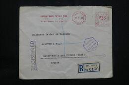 PALESTINE - Enveloppe Commerciale Tel Aviv Pour La France En 1940 Avec Cachet De Censure, Affr. Mécanique  - L 64777 - Palestine