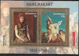 2011 Austria Mi.  Bl. 64 **MNH   Hans Makart - Blocks & Kleinbögen