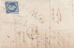 LETTRE. FRAGMENT. N° 14 ( Voisin + Bdf). CURSIVE 80 /La Villedieu / Du Clain VIENNE. - 1849-1876: Periodo Classico