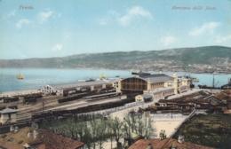 AK - Italien - TRIESTE - Staatsbahnhof (Kopfbahnhof) Am Hafen 1910 - Trieste