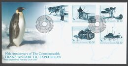 ROSS DEPENDENCY 2007 FDC 50th Anniversary Of The Commonwealth Trans-Antarctic Expedition - FDC
