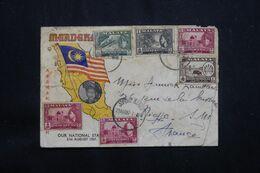 MALAISIE - Enveloppe De Johore Pour La France En 1957, Affranchissement Varié - L 64799 - Federation Of Malaya