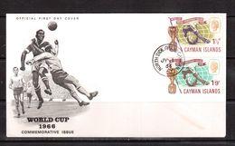 World Cup-1966, Cayman,  FDC ,Football, Soccer, Fussball,calcio - World Cup